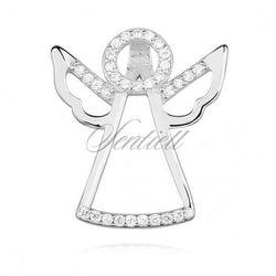 Srebrna zawieszka pr.925 anioł z cyrkoniamii - Z1256C