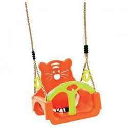 Huśtawka kubełkowa siedzisko dla dzieci 3w1 orange