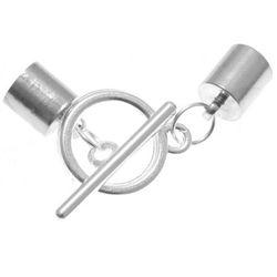 Uchwyt do Wklejania z Zapięciem Zakładkowym Toggle Srebrny Oksyda 4.5mm 10szt