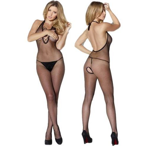 "Bodystocking Czarny L/XL ""Kiss Me"""