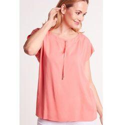 733ba29cc5669f bluzki damskie rozowa delikatna bluzka z wiazaniem pod szyja ...