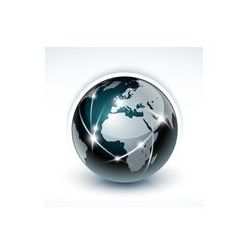 Fotoboard na płycie 50 x 70 cm - Planeta Ziemia Globus www sieci