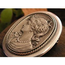 KAMEA - srebrna broszka srebro