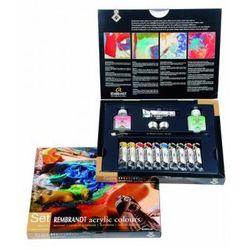Talens Rembrandt zestaw farb akrylowych 11x20 ml+ akcesoria