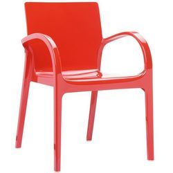 Designerskie krzesło do salonu poliwęglan Bayer AG Dejavu Siesta czerwone