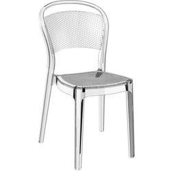 Designerskie krzesło z poliwęglanu nie tylko do restauracji Bee transparentne
