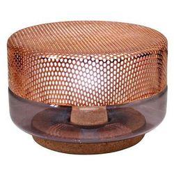 LIGHT DROP SMALL - Lampa stojąca LED Miedź/Fioletowy Śr.20cm