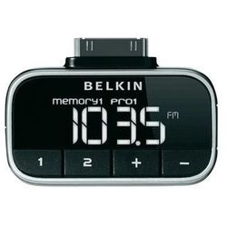 Transmiter/nadajnik FM Belkin F8Z179eaSTD, do iPoda, iPhone'a, podświetlany wyświetlacz