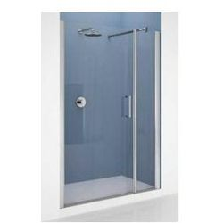 Drzwi Novellini Giada G+F 156-162 cm do wnęki z elementem stałym, lewe, profil chrom, szkło przeźroczyste GIADNGF156S-1K