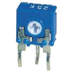 Potencjometr węglowy CA6 H ACP CA6XH2,5-500RA2020SNP CA6XH2,5-500RA2020SNP 500 Ohm Regulowanie za pomocą śrubokrętów krzyżakowych Zawartość 1000 szt.