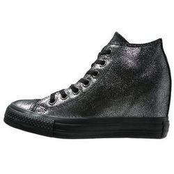 Converse CHUCK TAYLOR ALL STAR LUX MID Botki na koturnie dark silver/black