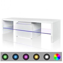 Stojak na telewizor, biały, LED, 150 cm Zapisz się do naszego Newslettera i odbierz voucher 20 PLN na zakupy w VidaXL!