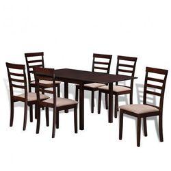 Zestaw do jadalni Rozkładany stół i 6 krzeseł Brąz+Krem Zapisz się do naszego Newslettera i odbierz voucher 20 PLN na zakupy w VidaXL!