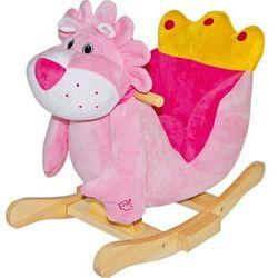 Jeździk pluszowy na biegunach dla dzieci
