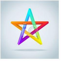 Plakat Kolorowe Niepojęte Pentagram.