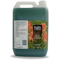 Organiczny płyn do mycia rąk z aloesem i olejkiem z drzewa herbacianego 5 litrów - Faith In Nature