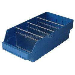 Pojemnik plastikowy warsztatowy z przekładkami. Wym: 500x240x150mm
