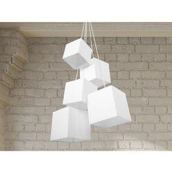 Lampa sufitowa wiszaca - zyrandol bialy - oswietlenie - MESTA