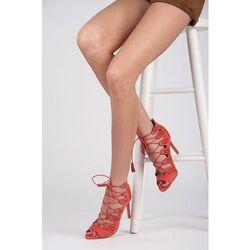 Zamszowe sandałki Alishia - odcienie różu