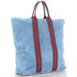 397b8b174a916 Praktyczne Torebki Skórzane z funkcją Plecaka Włoski Shopper XL w modne  paski renomowanej marki Vittoria Gotti