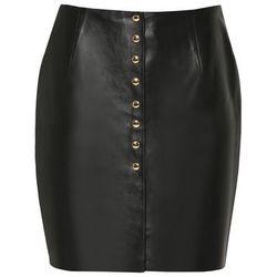 Spódnica skórzana mini czarna