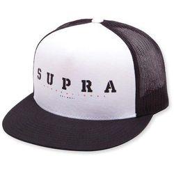 czapka z daszkiem SUPRA - Heritage Trucker Hat Black White (002) rozmiar  76208b79f7c1