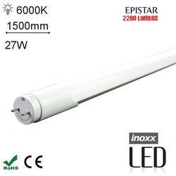 LED T8 150CM 6000K ZIMNY Świetlówka LED Zimna1500mm o mocy 27W 2200 lumenów 6000K