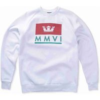bluza SUPRA - Crown Jewel Crew Flc White-Red-Tea (127)