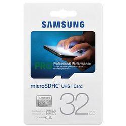 Samsung karta pamięci micro SDHC 32GB Class 10 Pro (read/write; 90/80MB/s)
