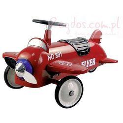 Czerwony, pojazd dla dzieci, samolot