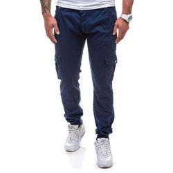 Granatowe spodnie joggery bojówki męskie Denley 0802 - GRANATOWY