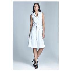Sukienka Szmizjerka - ecru - S72