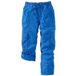 Spodnie bojówki bonprix lazurowy niebieski