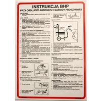 Instrukcja BHP przy obsłudze agregatu i gaśnicy proszkowej
