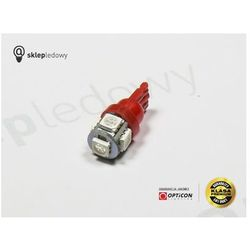 Żarówka 24V Led 5x SMD5050 W5W T10 Czerwony