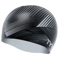 TYR CZEPEK GRAPHIC SILICONE CAP THIRD DIMENSION CAP BLACK-GREY