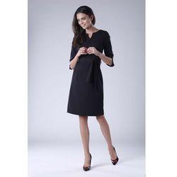 a1944361e50e05 suknie sukienki czarna szykowna sukienka z wiazana pod szyja biala ...