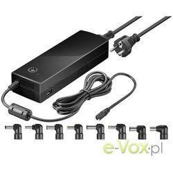 Goobay - zasilacz uniwersalny do laptopa - 150W + ładowarka USB
