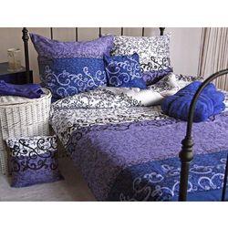 Pościel satynowa Substance Agnes Blue 100% bawełny