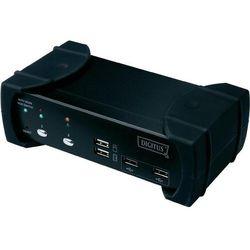 Przełącznik KVM DVI, Digitus DS-12820, USB, 1920 x 1200 px, Ilość przełączalnych PC: 2