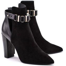 LIU JO Ankle Boots Bessie Tc 100 - Czarne Ekoskórzane Botki Damskie - S64129 P0021 2222