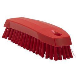 Szczotka ręczna do mycia, szorowania, średnia, czerwona, 165 mm, VIKAN 35874