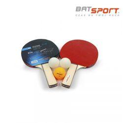 Zestaw do ping ponga Bat Sport Z110 - 2 rakietki + 3 piłeczki
