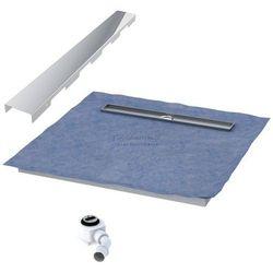 Schedpol podposadzkowa płyta prysznicowa 80x120 cm steel długi bok 10.008OLDBSL