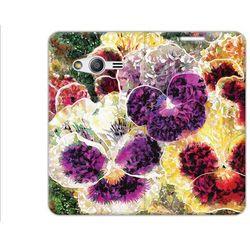 Flex Book Fantastic - Samsung Galaxy Trend 2 Lite - pokrowiec na telefon - płatki kwiatów