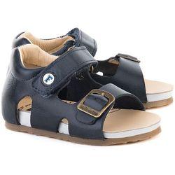 NATURINO Cerato Spazz - Granatowe Skórzane Sandały Dziecięce - 0011500545.01.9101