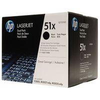 Tonery Oryginalne HP 51X (Q7551XD) (Czarne) (dwupak) - DARMOWA DOSTAWA w 24h