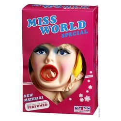 Dmuchana lalka miss świata perfumowana 3 otwory