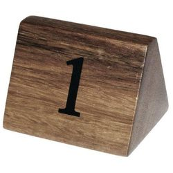 Drewniane numerki na stoły   1-10   35x35x(H)55mm