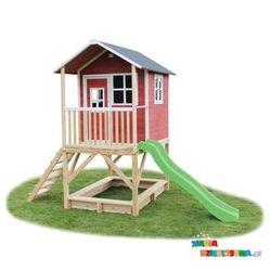 Domek dla dzieci do ogrodu EXIT Loft 500 czerwono - brązowy